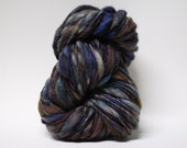 Thick and Thin Yarn Handspun Slub tts Hand dyed Self Striping BFL Silk Magnetar A02