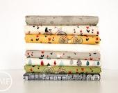 Mon Ami Half Yard Bundle, 8 Pieces, BasicGrey, 100% Cotton, Moda Fabrics, 30410