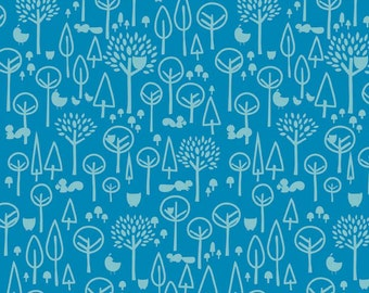 Scenic Route Trees in Blue, Deena Rutter, Riley Blake Designs, 100% Cotton Fabric, C3663-BLUE