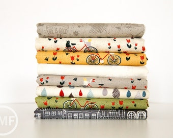 Mon Ami Fat Quarter Bundle, 8 Pieces, BasicGrey, 100% Cotton, Moda Fabrics, 30410