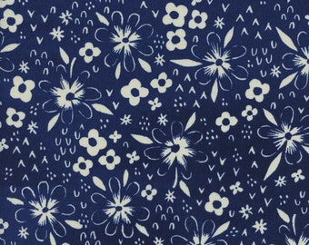 Bluebird Fox Tracks, Sarah Watts, Cotton+Steel, RJR Fabrics, 100% Cotton Fabric, 5042-1