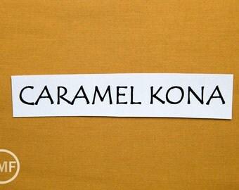 One Yard Caramel Kona Cotton Solid Fabric from Robert Kaufman, K001-1698