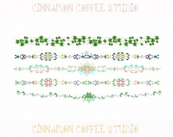 Floral Border Clipart, Sweet Delicate Nature Borders, Digital Border, Commercial Use, Sweet Flower Borders