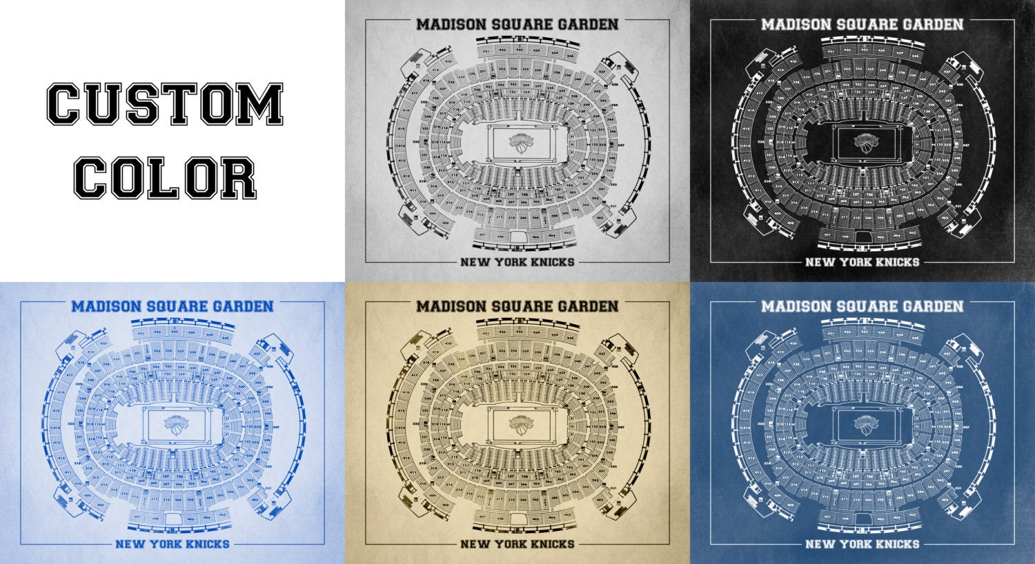 Vintage print of madison square garden seating chart on for 12x15 calculator
