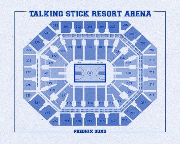 Vintage print of talking stick resort arena seating chart for 12x15 calculator