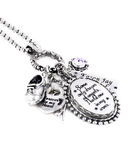 Personalized pregnancy loss memorial necklace by for When can babies wear jewelry