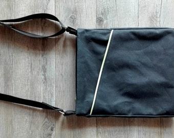 Laptop bag - Waxed canvas bag - canvas bag - man bag - vegan bag - cotton bag - travellers bag - crossbody bag - gift for husband