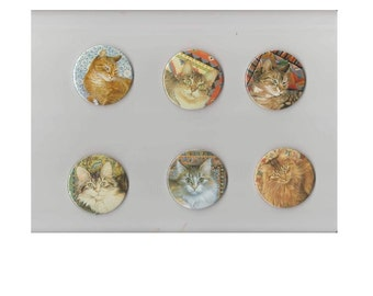 Kitty cat mirrors - half a dozen