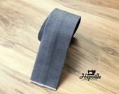 Selvedge Denim Tie - Grey