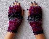 Fingerless Gloves Arm warmers Fingerless mittens Hand knitted mittens Hand Knit elegant gloves Knit gloves Wrist warmers Winter gloves