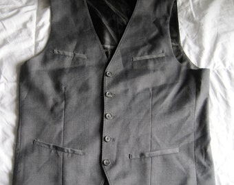 Slate Gray Vest, Mens Small