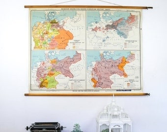 World Map, Prussia and the unification of Germany