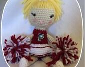 Custom Crocheted Cheerleader - Amigurumi - made to order
