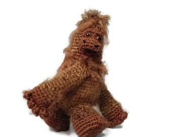 Crocheted Sasquatch Amigurumi - Big Foot - made to order