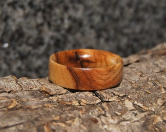 Olive Wood Ring Size 7 1/2