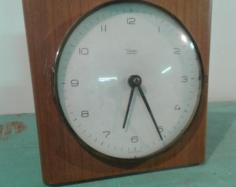 """Vintage nautical  rope wall clock, by """" Diehl electro"""" made in Germany, from the 50s,  mid century clock"""
