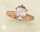 Lavender Sapphire Rose Gold Engagement Ring 2.18ct Sapphire in Diamond Accented Engagement