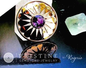 Amethyst Pendant in 14k Gold, SALE Februrary Birthstone Gemstone Jewelry