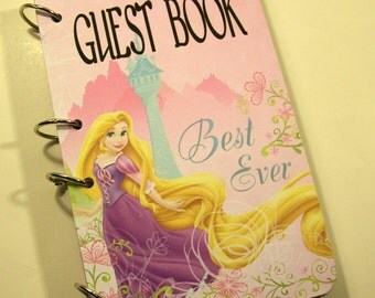 Princess Guest Book, Princess Rapunzel Party, Girls First Birthday, Princess Party Book, Princess Baby Shower, Princess Sign in Book