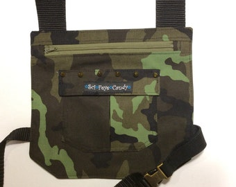 Camo Printed SciFeyeCandy Leg bag, Holster pocket