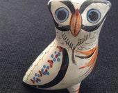 Vintage Tlaquepaque, Tonala, Mexico OWL or Bird.  Modernist Ceramic figure. 1960's.  Mod Kitsch