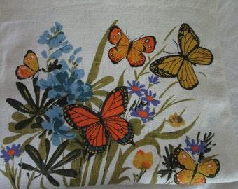 1979 Butterflies Linen Tea Towel Calendar