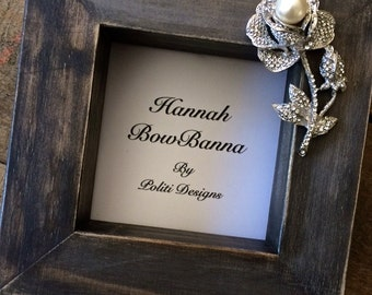 Picture Frame Wood Block Wedding Photo Jeweled Rose Personalize Home Decor Bridal Registry Beach Barn