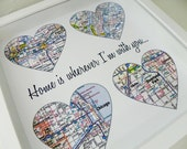Unique Wedding Gift Personalized Map Art Gift Wedding Gifts Any Location Available Wedding Gifts for Couple Wedding Gifts For Parents