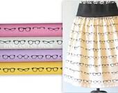 Womens Skirt/Geekery/Geek Clothing/Geek Skirt/Geeky Chic/Eyewear/Eyeglasses/MADE To ORDER/Price Varies/XX Small to Plus/See Details Below