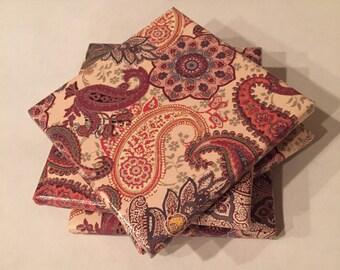 Fall Paisley Ceramic Coasters