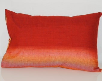 Asian Red Ombre Pillow