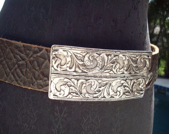 Brown Genuine Italian Leather Belt, S, Made in Canada by Brave Beltworks