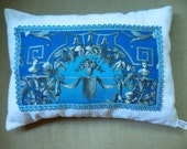 Stunning Neoclassical Antique French Toile Pillow (#1320)
