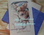 intensely loyal ( a best friend's song ) / tan Chihuahua / Chihuahua mom/love  Chihuahua/Chi/ storybook /unique empathy condolence cards