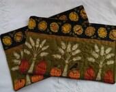 Autumn  Mug Rugs (2)  Sunnflowers, wheat, Pumpkins