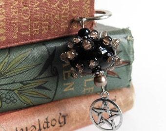 Lampwork Pentagram Bookmark. The Guardian Grimoire Bookmark