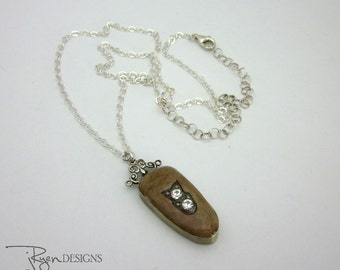 Soldered Pendant Necklace - Artisan Necklace - Handmade Necklace - Sterling Silver Necklace