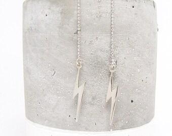 Lightning Bolt Threader Earrings - Earring Threader - Earring Threads - Lightning Earrings