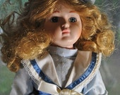 ON SALE Regal Doll Collection, Ginger, vintage porcelain doll, collectible