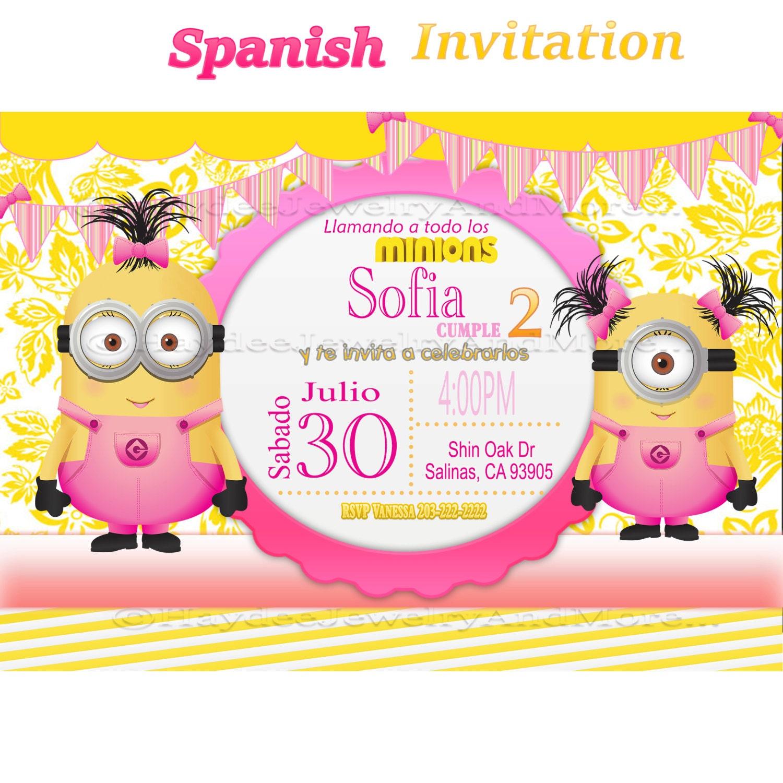 Minion Party Invitations – gangcraft.net