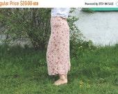 SALE Vintage 80's Floral Pint Chiffon Maxi Skirt Summer skirt