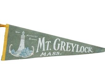 Vintage Mt. Greylock Mass. Felt Flag Banner