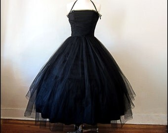 Beautiful Black Tulle Cocktail/Party/Prom dress