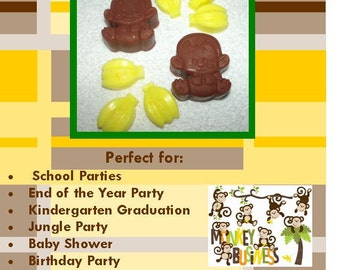 Going Bananas Glycerin Soap Set, Children's Party Favors, Jungle Party Favor, Safari Party Favor, Monkey Favor