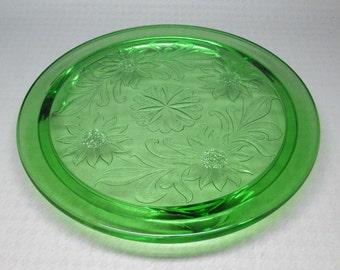 Jeannette Glass Company Sunflower cake plate