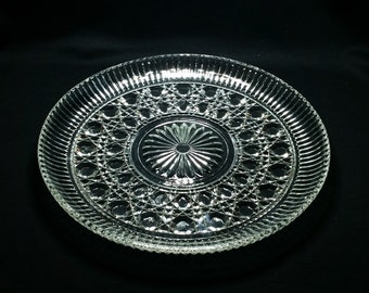 Vintage Windsor by Federal Glass, serving platter, divided relish, creamer, vintage glass
