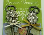 Custom Order for Gina ... Rhinestone Adorned Skeleton Key Boutonniere