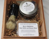 Oatmeal Milk and Honey Cigar Box Deluxe Shave/Shaving Set Kit - Perla Del Mar