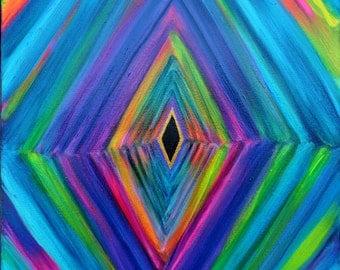 Meditation Art - 16 x 20 Astral Stimulus - Acrylic Painting on Canvas
