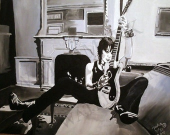 JOAN JETT Hand Painted Oil Painting 24 x 30